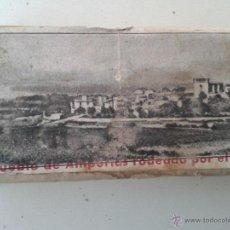 Antigüedades: ANTIGUA PLACA DE SERIAGRIA DE IMPRENTA PUEBLO DE AMPURIAS RODEADO POR EL MAR AÑOS 50. Lote 48839468