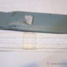 Antigüedades: ANTIGUA REGLA DE CÁLCULO DEUSPA, CON SU FUNDA. 15 X 3,8 CMS.. Lote 48840825