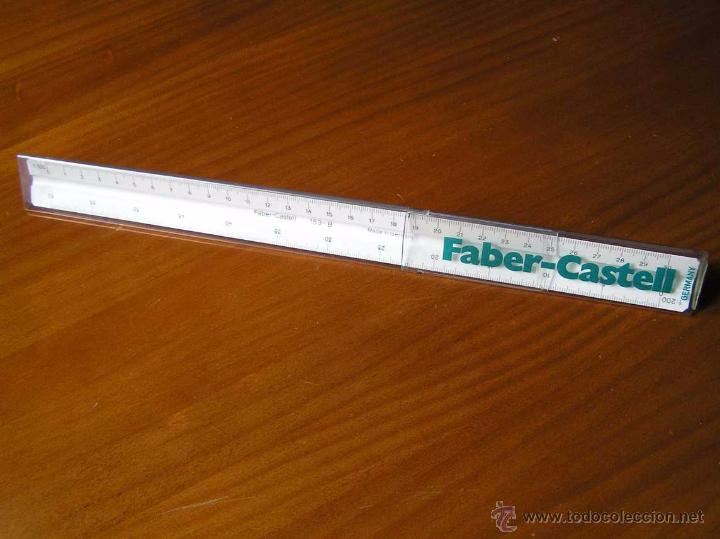 ESCALIMETRO FABER CASTELL 153-B CON FUNDA - REGLA - (Antigüedades - Técnicas - Aparatos de Cálculo - Reglas de Cálculo Antiguas)