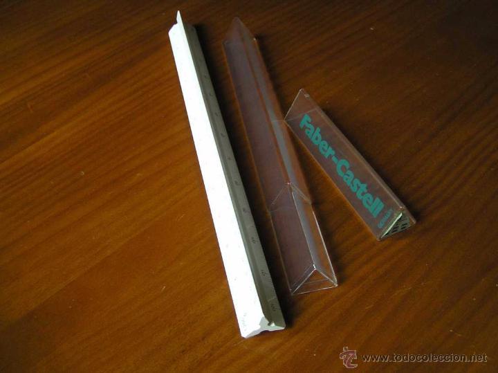 Antigüedades: ESCALIMETRO FABER CASTELL 153-B CON FUNDA - REGLA - - Foto 7 - 48880132