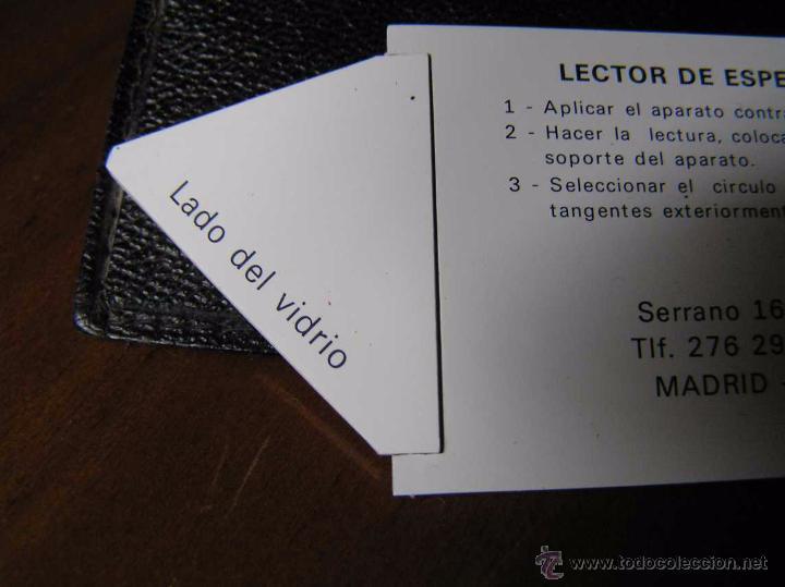 Antigüedades: LECTOR DE ESPESOR DE VIDRIO CITAV GRAPHOPLEX - PACHOMETRE REGLA DE CALCULO SLIDE RULE RAPHOPLEX - Foto 5 - 48880541