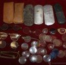 Antigüedades: LOTE DE VARIAS GAFAS, ESTUCHES, CRISTALES... ETC TODO ANTIGUO. Lote 48916001