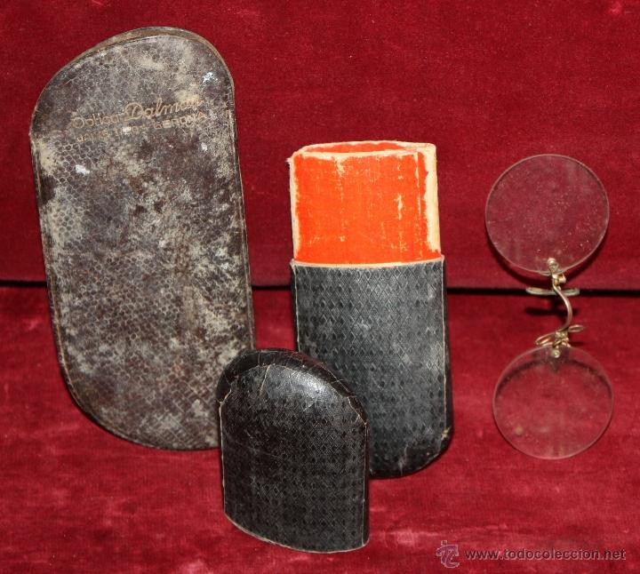Antigüedades: LOTE DE VARIAS GAFAS, ESTUCHES, CRISTALES... ETC TODO ANTIGUO - Foto 6 - 48916001
