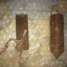 Antigüedades: ANTIGUA PLOMADA DE HIERRO . Lote 48932783