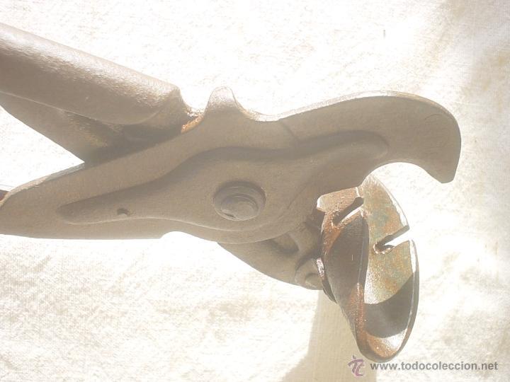 Antigüedades: CIZALLA DE TRINQUETE - TENAZA - CORTADOR FONTANERIA - FONTANERO - Foto 5 - 48963089