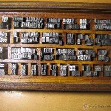 Antigüedades: IMPRENTA, CAJA LETRAS DE PLOMO CUERPO 20 FOLIO NEGRA ESTRECHA - REF. 20 FOLIO 1-16. Lote 54367807