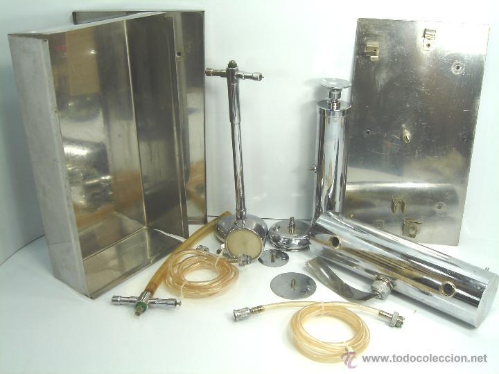 CURIOSO APARATO DE TRANSFUSION PORTATIL - JOE - INSTRUMENTAL MEDICO - SANGRE (Antigüedades - Técnicas - Herramientas Profesionales - Medicina)