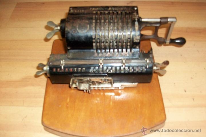 ANTIGUA CALCULADORA BRUNSVIGA TRINKS- AÑO 1910-ALEMANA (Antigüedades - Técnicas - Aparatos de Cálculo - Calculadoras Antiguas)
