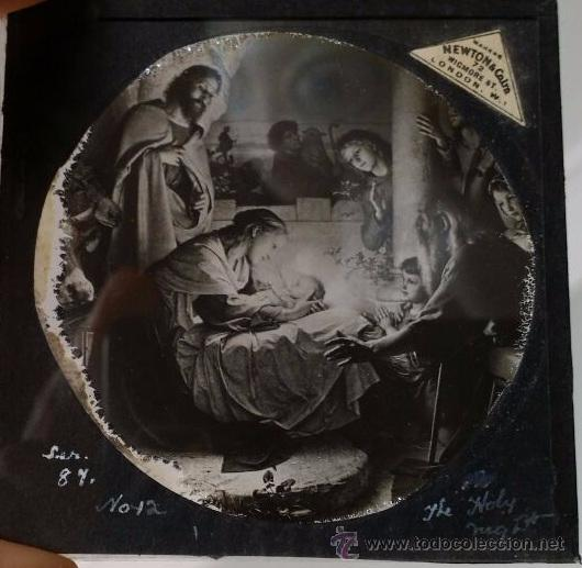 6 CRISTALES PARA LINTERNA MÁGICA (Antigüedades - Técnicas - Aparatos de Cine Antiguo - Linternas Mágicas Antiguas)