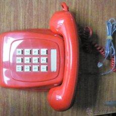 Teléfonos: TELÉFONO CITESA ROJO DE TECLAS FUNCIONANDO PERFECTO CABLE ACTUAL. Lote 49057766