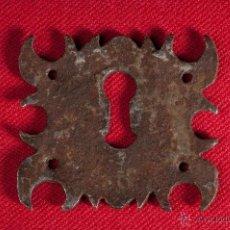 Antigüedades: ANTIGUA BOCALLAVE EN HIERRO FORJADO SIGLO XIX. Lote 49072962