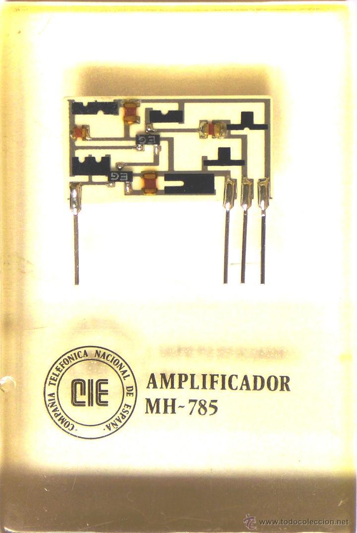 AMPLIFICADOR MH-785, EN METACRILATO CON ANTIGUO LOGOTIPO TELEFÓNICA (Antigüedades - Técnicas - Teléfonos Antiguos)