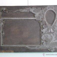 Antigüedades: TROQUEL MODERNISTA DE IMPRENTA, ART NOUVEAU, JUGENDSTIL, AÑOS 10. Lote 49235637
