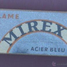 Antigüedades: CAJA CON 5 HOJAS DE AFEITAR -MIREX 5 LAMES - FRANCIA ACIER BLEU. Lote 194899016