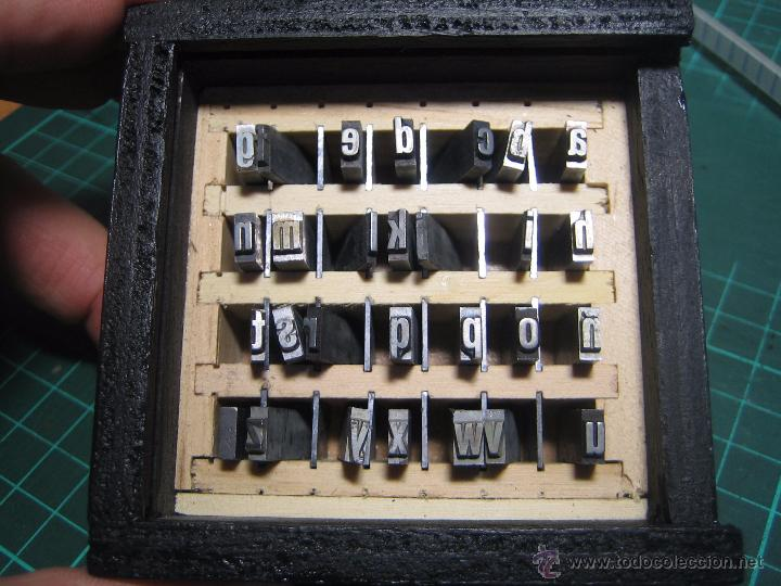 Antigüedades: imprenta, cajita madera metacrilato, abecedario completo cuerpo 20 folio - lote 6-15 - Foto 4 - 53579078
