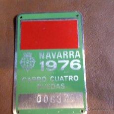 Antigüedades: MATRICULA DE CARRO NAVARRA 1976. Lote 49305457