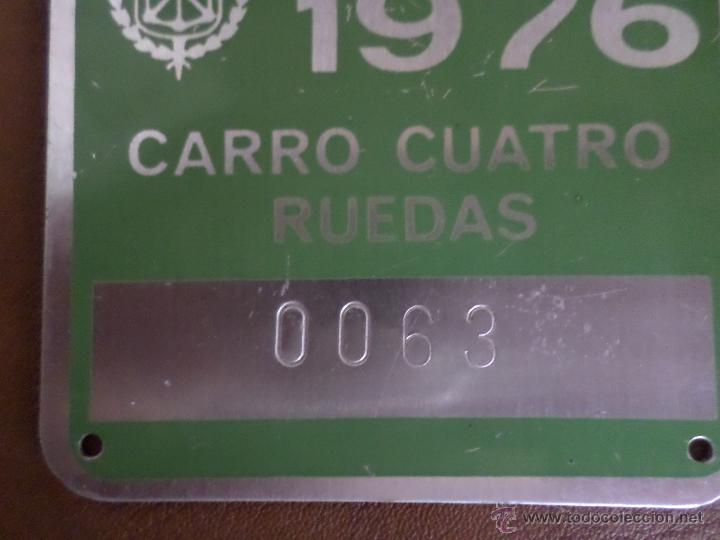 Antigüedades: MATRICULA DE CARRO NAVARRA 1976 - Foto 2 - 49305457