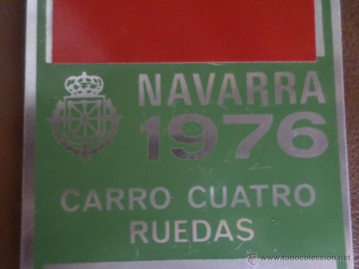 Antigüedades: MATRICULA DE CARRO NAVARRA 1976 - Foto 3 - 49305457