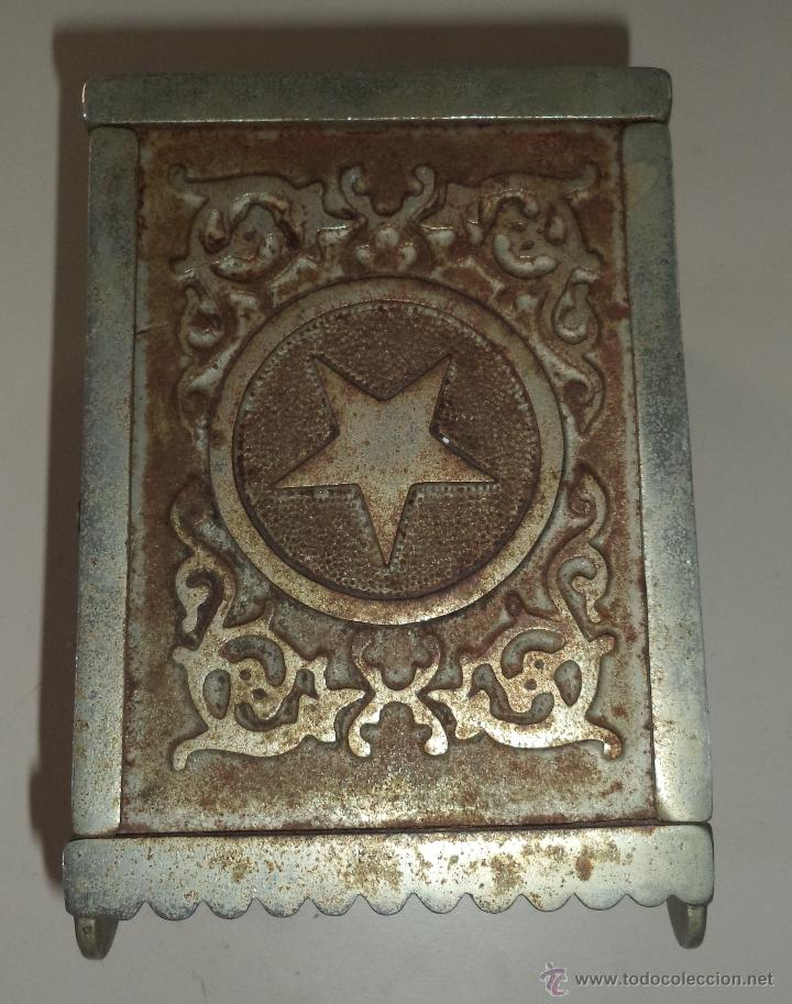 Antigüedades: ANTIGUA HUCHA. CAJA FUERTE. HIERRO DECORADA EN RELIEVE. SECURITY BANK. VER FOTOS - Foto 7 - 49441999