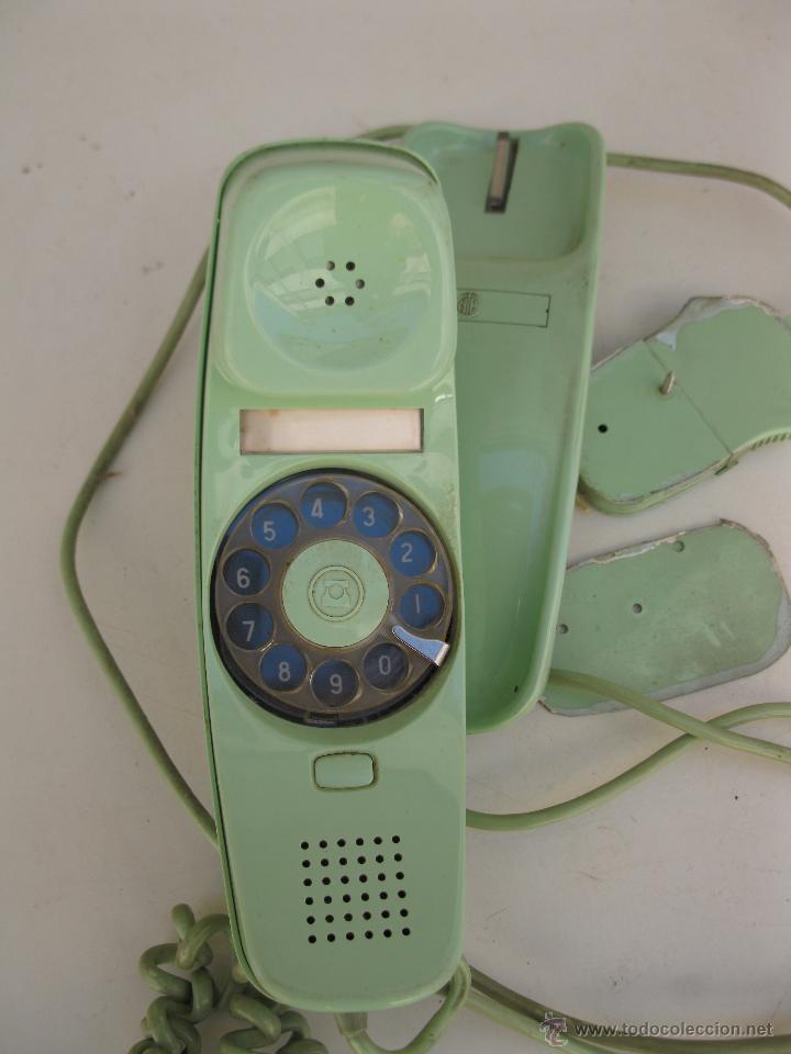 Teléfonos: ANTIGUO TELÉFONO MODELO GÓNDOLA - VERDE CLARO - CITESA. - Foto 2 - 49449092