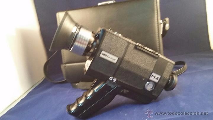 CÁMARA SUPER 8 MIRAGE M4 POWER ZOOM. INCLUYE MALETÍN (Antigüedades - Técnicas - Aparatos de Cine Antiguo - Cámaras de Super 8 mm Antiguas)