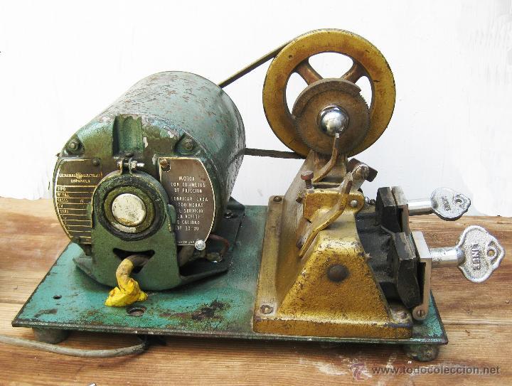 Antigüedades: FANTASTICA MAQUINA INDUSTRIAL COPIA LLAVES LINCE ELORRIO GENERAL ELECTRICA ESPAÑOLA IDEAL DECORACION - Foto 6 - 49479600
