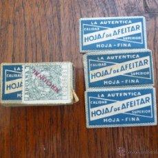 Antigüedades: F 2639 CAJA CON 3 HOJAS DE AFEITAR LA AUTENTICA CALIDAD SUPERIOR. Lote 49487259