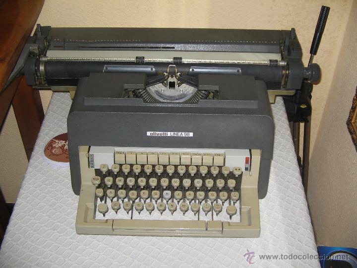 MÁQUINA ESCRIBIR OLIVETTI LINEA 98 CARRO LARGO (Antigüedades - Técnicas - Máquinas de Escribir Antiguas - Olivetti)