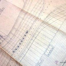 Antigüedades: PLANO LONGITUDINAL Y DE FORMAS . BARCO CARABELA PINTA . DIB F. JAEN 1963. ARXIU NICOLAU . ARCHIVO. Lote 49533940
