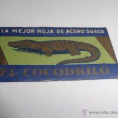 Antigüedades: HOJA DE AFEITAR EL COCODRILO. Lote 49559691