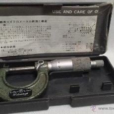Antigüedades: MICROMETRO MITUTOYO CON ESTUCHE E INSTRUCCIONES MADE IN JAPAN. Lote 49643624