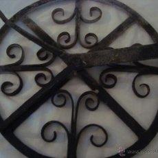 Antigüedades: INUSUAL PARRILLA DE F ORJA. Lote 49644733