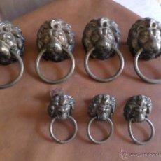 Antigüedades: TIRADORES CABEZA DE LEON ANTIGUOS. Lote 49658613