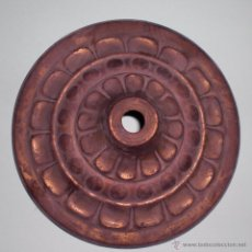 Antigüedades: MARCO DE LATÓN DECORACIÓN LAMPARA PARA TECHO 1900. Lote 49675126