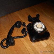 Telefone - TELEFONO DE PARED BAQUELITA NEGRO CTNE AÑOS 50 60 CLAVIJA ACTUAL FUNCIONANDO - 49676138