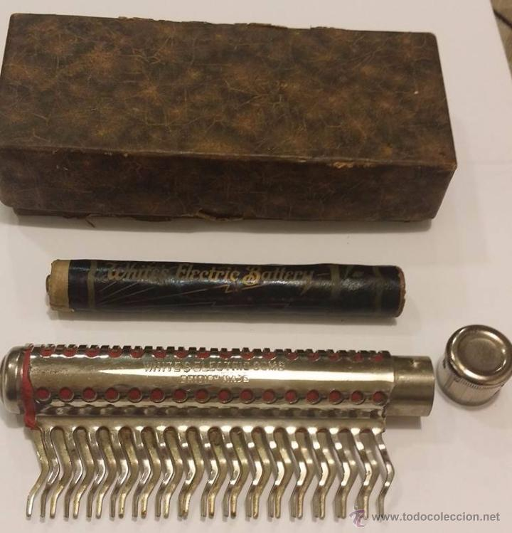 Antigüedades: ANTIGUO Y RARISIMO DISPOSITIVO PSEUDO MEDICO ELECTRICO - WHITES ELECTRIC COMB INGLATERRA 1.920 - Foto 2 - 49693930