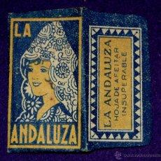 Antigüedades: HOJA DE AFEITAR ANTIGUA - LA ANDALUZA (AMARILLA) - SIN USAR. Lote 235694965