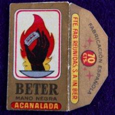 Antigüedades: FUNDA DE HOJA DE AFEITAR ANTIGUA - BETTER ACANALADA. MANO NEGRA. Lote 49712902