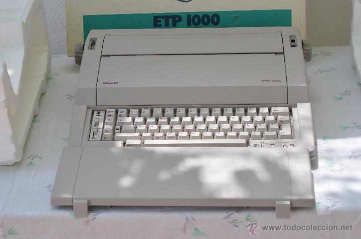 MÁQUINA DE ESCRIBIR ELÉCTRICA OLIVETTI ETP-1000 , NUEVA EN SU EMBALAJE!! (Antigüedades - Técnicas - Máquinas de Escribir Antiguas - Otras)