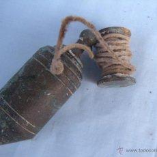 Antigüedades: ANTIGUA PLOMADA PLOMO DE BRONCE.. Lote 253947515