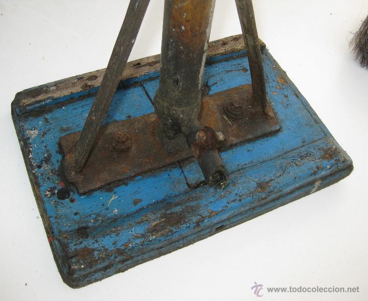 Antigüedades: UNICO! GRAN INFLADOR ANTIGUO DE RUEDAS DE TALLER Y MADERA AÑOS 20 DECORACION INDUSTRIAL - Foto 2 - 49779051