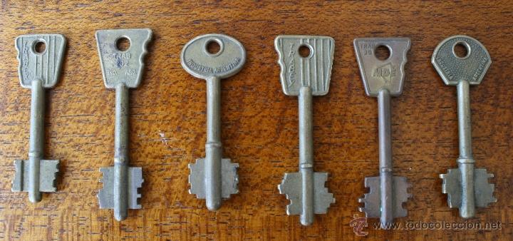 Juego seis diferentes curiosas antiguas llaves comprar - Llaves antiguas de puertas ...