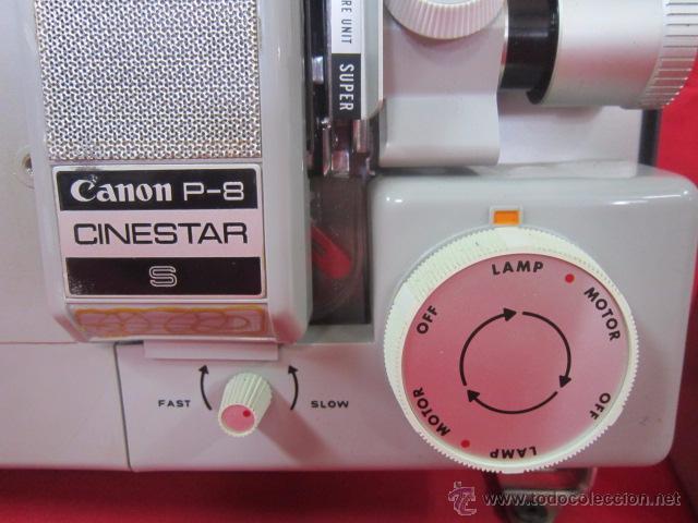 Antigüedades: Cinestar Canon P-8 S. Reproductor de super 8 en buen estado. - Foto 2 - 49867113