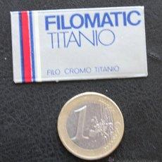 Antigüedades: CUCHILLA FILOMATIC TITANIO BLADE. Lote 102848566