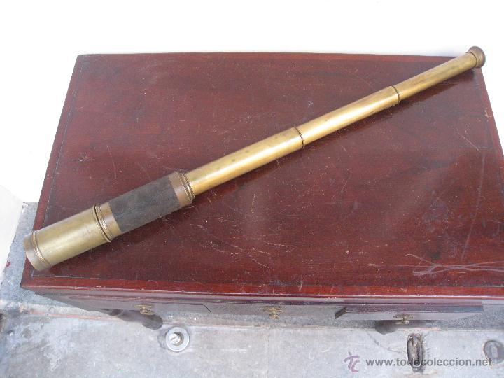 RARO CATALEJO DE 5 TRAMOS. S.XIX (Antigüedades - Técnicas - Instrumentos Ópticos - Catalejos Antiguos)