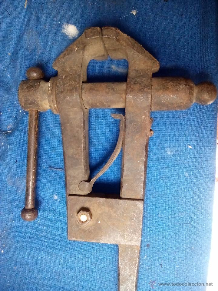Antigüedades: Tornillo de banco de trabajo - Foto 6 - 49896480