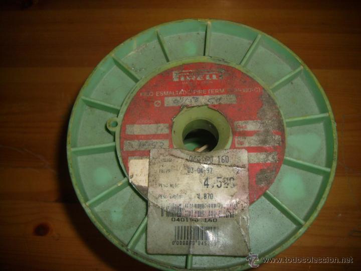 Antigüedades: CABLE HILO DE COBRE ESMALTADO 0,150 - Foto 2 - 49902502