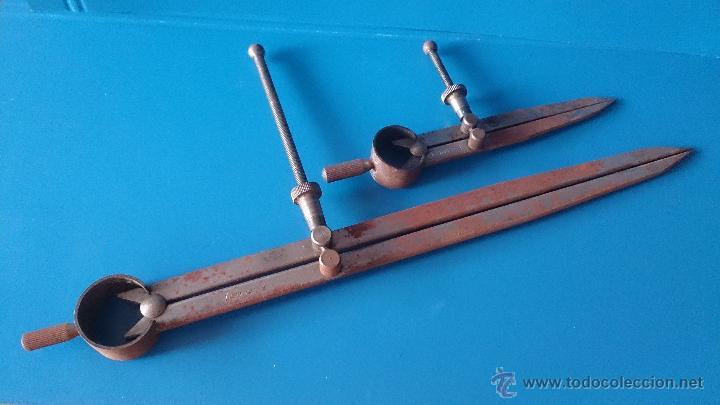 COMPAS CHAPISTA PLANCHISTA (Antigüedades - Técnicas - Herramientas Profesionales - Mecánica)