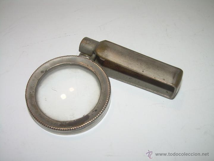 Antigüedades: ANTIGUA LUPA PLEGABLE.....MUCHOS AUMENTOS...BUEN ESTADO DE CONSERVACION. - Foto 3 - 49907429