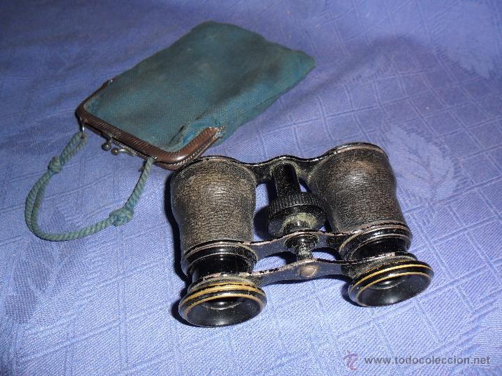 ANTIGUOS PRISMATICOS IMPERTINENTES DE HOMBRE, PARA OPERA O TEATRO, SIGLO XIX. (Antigüedades - Técnicas - Instrumentos Ópticos - Binoculares Antiguos)